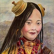 Картины и панно ручной работы. Ярмарка Мастеров - ручная работа Дочь шамана. Handmade.