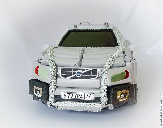 Автомобильные ручной работы. Ярмарка Мастеров - ручная работа. Купить Машина из конфет Volvo. Handmade. Автомобиль, подарок автолюбителю, распечатка