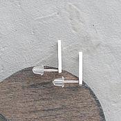 Серьги классические ручной работы. Ярмарка Мастеров - ручная работа Серьги палочки из серебра. Handmade.