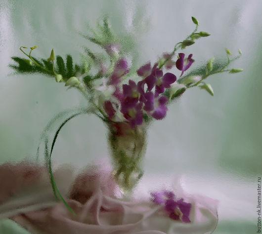 Фотокартины ручной работы. Ярмарка Мастеров - ручная работа. Купить Натюрморт Букет орхидей. Handmade. Фуксия, белый, цветы в вазе