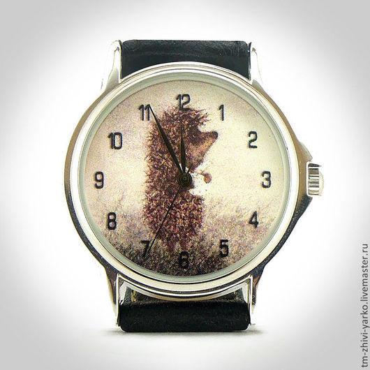 Часы наручные `Ёжик в тумане`. Необычные наручные часы ручной работы.