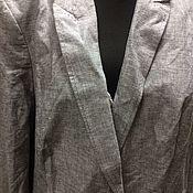Пиджак винтажный лен