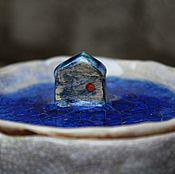 """Посуда ручной работы. Ярмарка Мастеров - ручная работа Баночка """"Морской домик"""". Handmade."""
