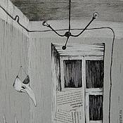 "Картины и панно ручной работы. Ярмарка Мастеров - ручная работа Картина ""Комната"" графика готика. Handmade."