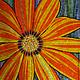 Картины цветов ручной работы. Ярмарка Мастеров - ручная работа. Купить Цветок. Handmade. Оранжевый, панно в интерьер, цветочный декор