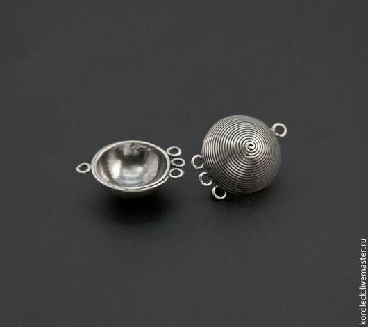 Для украшений ручной работы. Ярмарка Мастеров - ручная работа. Купить Коннектор-подвеска серебряная Диск ручной работы. Handmade.