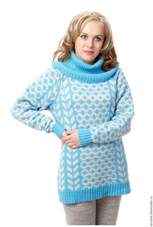 вязаный свитер.свитер вязаный.трикотажный свитер.свитер трикотажный.шерстяной свитер.свитер шерстяной.свитер из шерсти.свитер с оленями.олени.итальянская шерсть.зимняя одежда, орнамент, кашемир