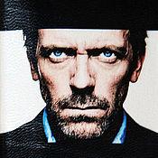 """Канцелярские товары ручной работы. Ярмарка Мастеров - ручная работа обложка для паспорта """"Доктор Хаус"""" (кожа). Handmade."""