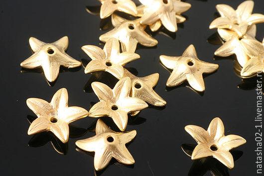 Для украшений ручной работы. Ярмарка Мастеров - ручная работа. Купить Шапочки для бусин позолота Gold Plated Южная Корея. Handmade.