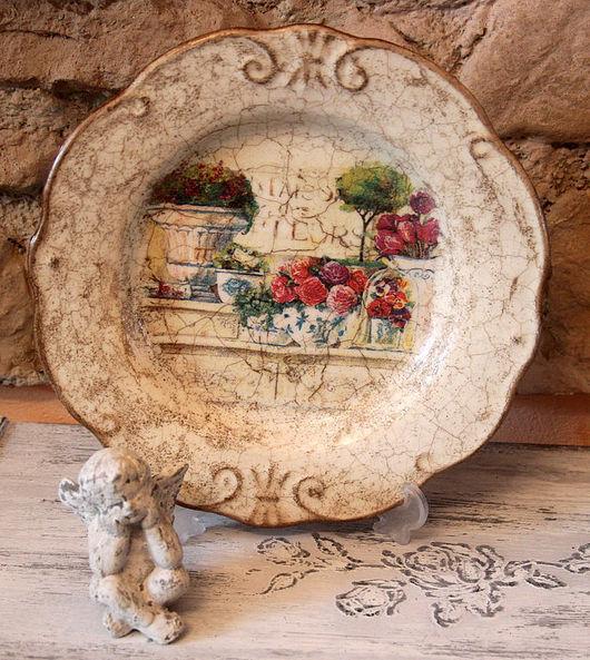 Декоративная посуда ручной работы. Ярмарка Мастеров - ручная работа. Купить Блюдо интерьерное Цветы. Handmade. Интерьерное блюдо