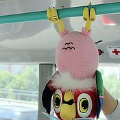Куклы и игрушки ручной работы. Ярмарка Мастеров - ручная работа Попугай Кеша. Театральная кукла, на гапите 3 механники паппет. Handmade.