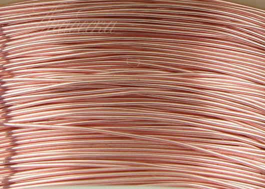 Проволока 0.33мм медная цвета розовое золото 13.72 м/упак BEADSMITH (США)