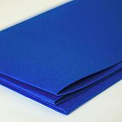 Материалы для творчества ручной работы. Ярмарка Мастеров - ручная работа Фетр ярко-синий жесткий 1,2 мм Корея полиэстер. Handmade.