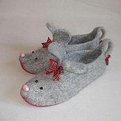 """Обувь ручной работы. Ярмарка Мастеров - ручная работа Тапочки """"Мышь"""". Handmade."""