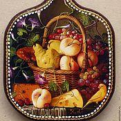 Для дома и интерьера ручной работы. Ярмарка Мастеров - ручная работа Доска для кухни Натюрморт с грушами Подарочный вариант. Handmade.