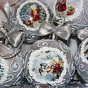 Подарки к праздникам ручной работы. Ярмарка Мастеров - ручная работа Елочные шары «Зимние деньки». Handmade.