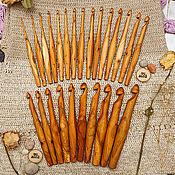 Набор деревянных крючков для вязания 25 шт (3-20 мм) #KN7
