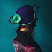 Аксессуары ручной работы. Ярмарка Мастеров - ручная работа Фетровая шляпка Рыбка. Handmade.