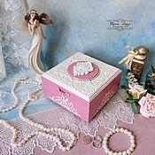 """Шкатулки ручной работы. Ярмарка Мастеров - ручная работа Шкатулка для украшений """"Розовая нежность"""" (на заказ). Handmade."""