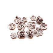 Материалы для творчества handmade. Livemaster - original item Flowers 12 pieces knitted flax color (set №19). Handmade.