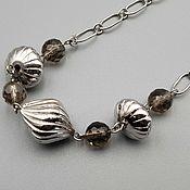 Украшения handmade. Livemaster - original item Silver necklace with Topaz. Handmade.