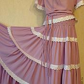 Одежда handmade. Livemaster - original item Tiered skirt plus a top