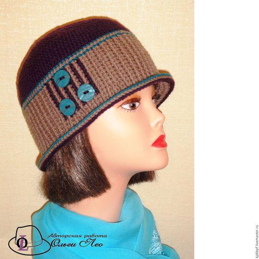 """Шапки ручной работы. Ярмарка Мастеров - ручная работа. Купить Вязаная шляпа """"Джина"""". Handmade. Комбинированный, шляпа с пуговицами"""