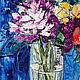 Картины цветов ручной работы. На весу. K&ART. Ярмарка Мастеров. Фиолетовы, розы, яркие цвета