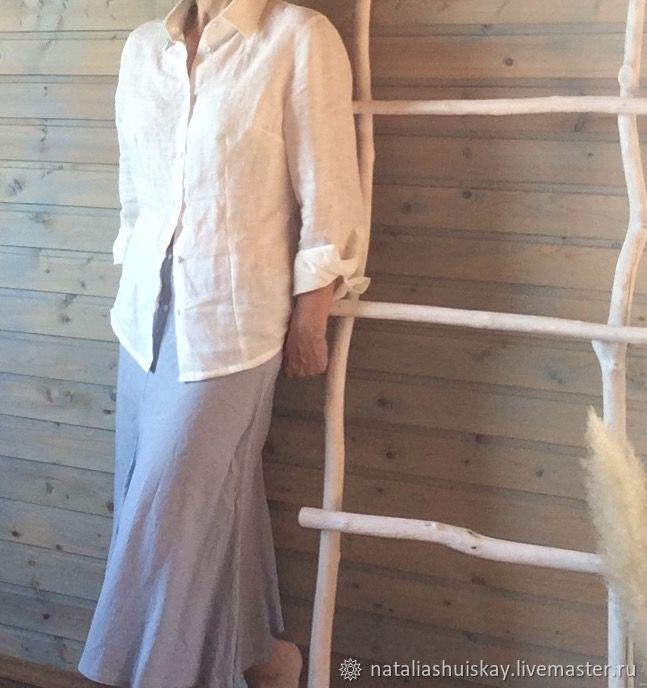 38a89a429552a53 Ярмарка Мастеров - ручная работа. Купить Женская льняная рубашка приталенная .