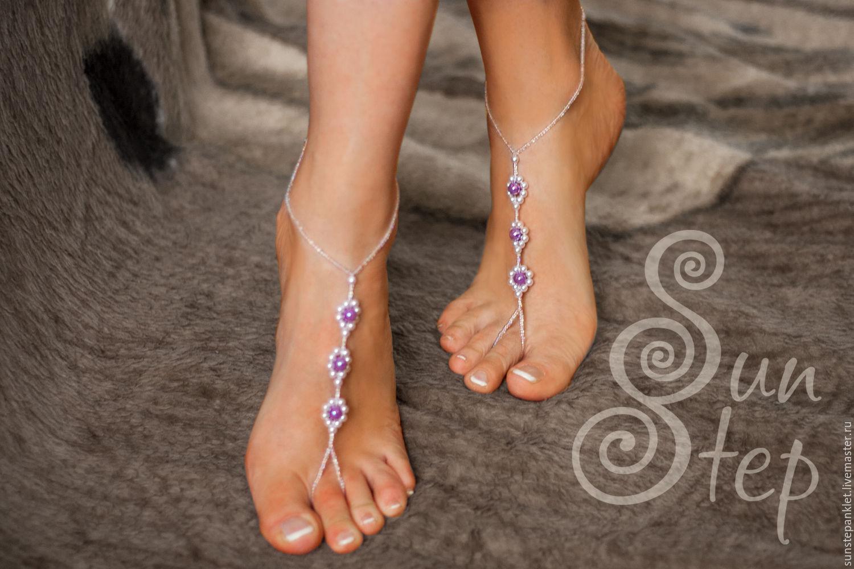 Босые сандалии (браслеты на ноги) Мадмуазель, Украшения на ногу, Калининград, Фото №1