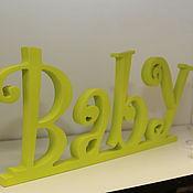 Для дома и интерьера ручной работы. Ярмарка Мастеров - ручная работа интерьерное слово Baby. Handmade.