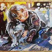 Картины и панно handmade. Livemaster - original item Dear friend - painting on canvas. Handmade.
