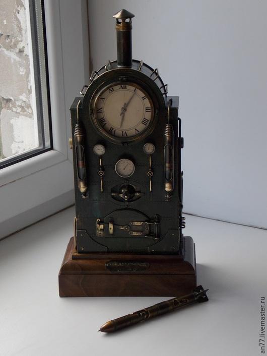 """Часы для дома ручной работы. Ярмарка Мастеров - ручная работа. Купить каминные часы в стиле """"steampank""""(ПРОДАНО ). Handmade."""