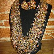 Украшения ручной работы. Ярмарка Мастеров - ручная работа Воздушное колье и серьги. Handmade.