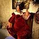 Коллекционные куклы ручной работы. Дама с сервизам. 'АняМаня'. Интернет-магазин Ярмарка Мастеров. Красивый подарок, Паперклей, шёлк натуральный