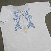 Работы для детей, handmade. Livemaster - original item Baptismal shirt for boy. art. 005. Handmade.