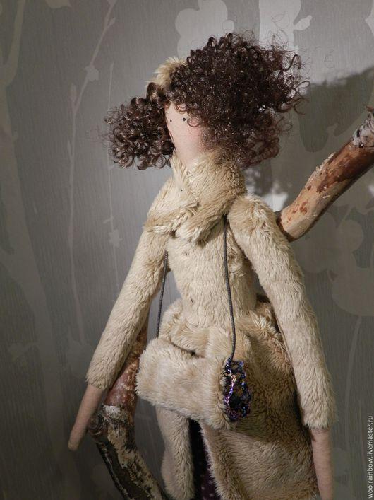 Куклы Тильды ручной работы. Ярмарка Мастеров - ручная работа. Купить Фея в шубке и с муфтой в стиле Тильда  ПРОДАНО. Handmade.