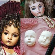 Аксессуары для кукол и игрушек ручной работы. Ярмарка Мастеров - ручная работа Лицо куклы Bru Jne для изготовления тедди долл.. Handmade.