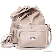 Сумки и аксессуары handmade. Livemaster - original item Bag Genuine Leather bag with cosmetic bag Accessories Set. Handmade.