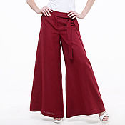 Одежда handmade. Livemaster - original item Palazzo pants made of 100% linen. Handmade.