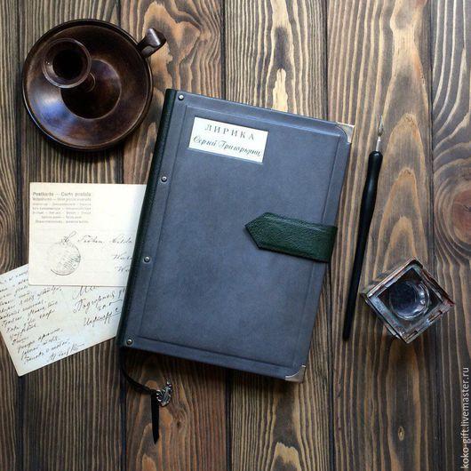 """Блокноты ручной работы. Ярмарка Мастеров - ручная работа. Купить Блокнот для записи стихов в кожаном переплете """"Лирика"""". Handmade."""