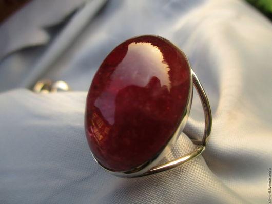 кольцо `Малиновая заря` цена 4500 турмалин натуральный