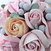 """Цветы и флористика ручной работы. Ярмарка Мастеров - ручная работа Букет """"Розовое чудо"""". Handmade."""
