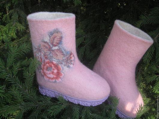 Обувь ручной работы. Ярмарка Мастеров - ручная работа. Купить Валенки детские. Handmade. Розовый, Валенки детские, валенки для улицы