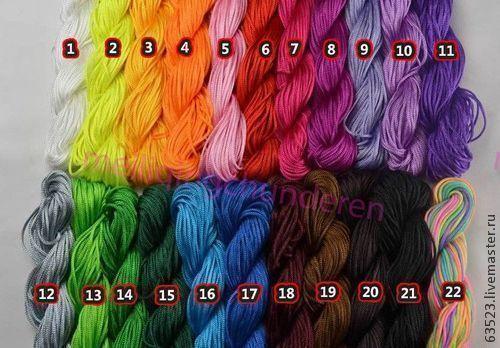 Для украшений ручной работы. Ярмарка Мастеров - ручная работа. Купить Шнур капроновый для плетения и вязания. Handmade. Шнур