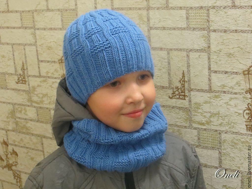 Вязание спицами шапка для мальчика 4 лет 74