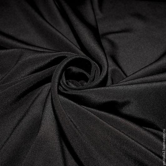 Шитье ручной работы. Ярмарка Мастеров - ручная работа. Купить Шелк   креп  черный ARMANI. Handmade. Именная ткань