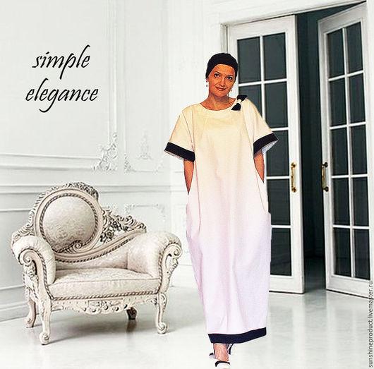 """Платья ручной работы. Ярмарка Мастеров - ручная работа. Купить Платье """"Simple Elegance"""". Handmade. Чёрно-белый, платье-кокон"""
