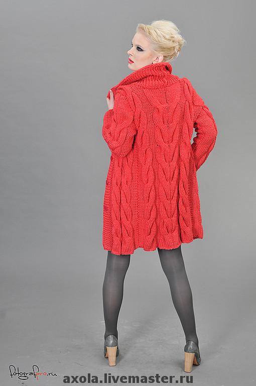 """Верхняя одежда ручной работы. Ярмарка Мастеров - ручная работа. Купить Кардиган """"Красный мак"""". Handmade. Пальто, ярко-красный"""