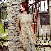 """Одежда ручной работы. Ярмарка Мастеров - ручная работа Валяное платье """"Шепот песчаных дюн"""". Handmade."""